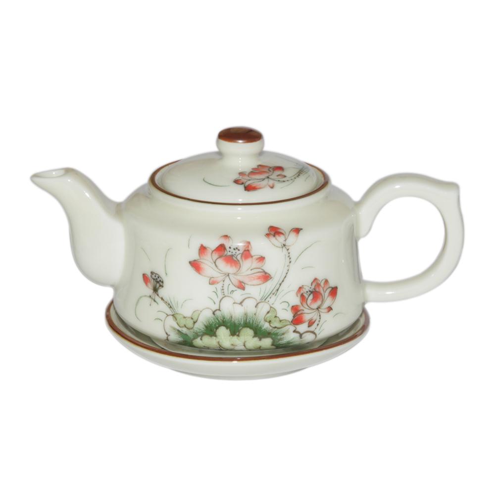 Bộ pha trà hướng thiện - vẽ hoa sen