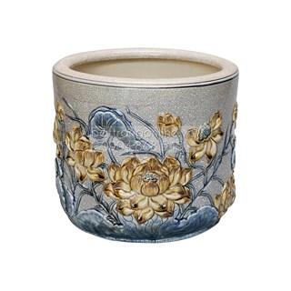 Bát hương Sen - men rạn cổ - đường kính 22 cm