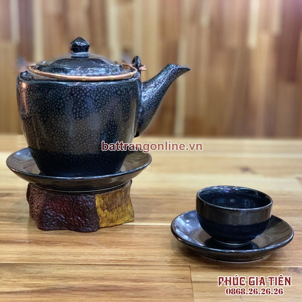 Bộ trà độc ẩm dáng vuông