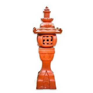 Đèn Đứng Tròn - Đỏ gốm - TYC 733