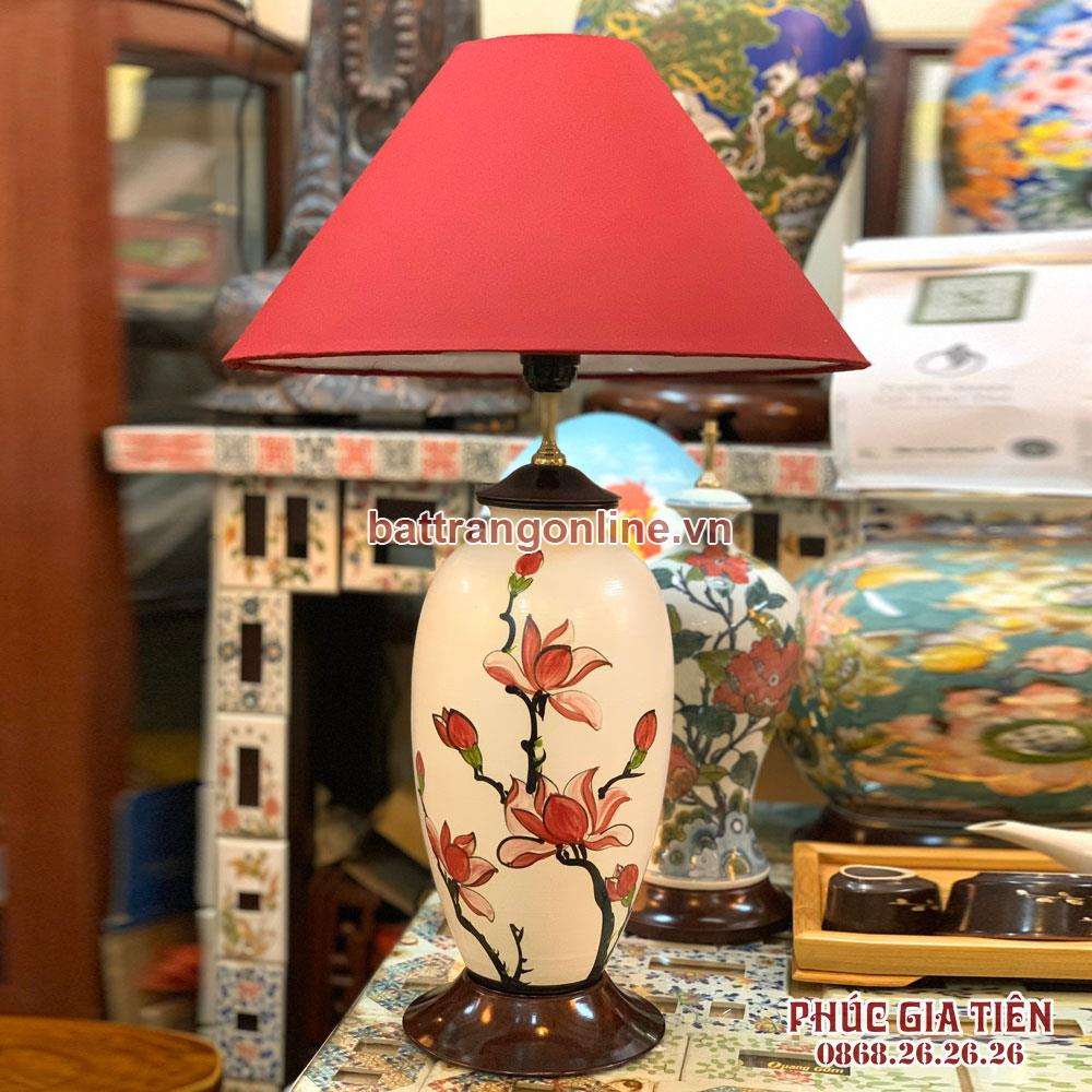 Đèn ngủ hoa ngọc lan, cao 58cm