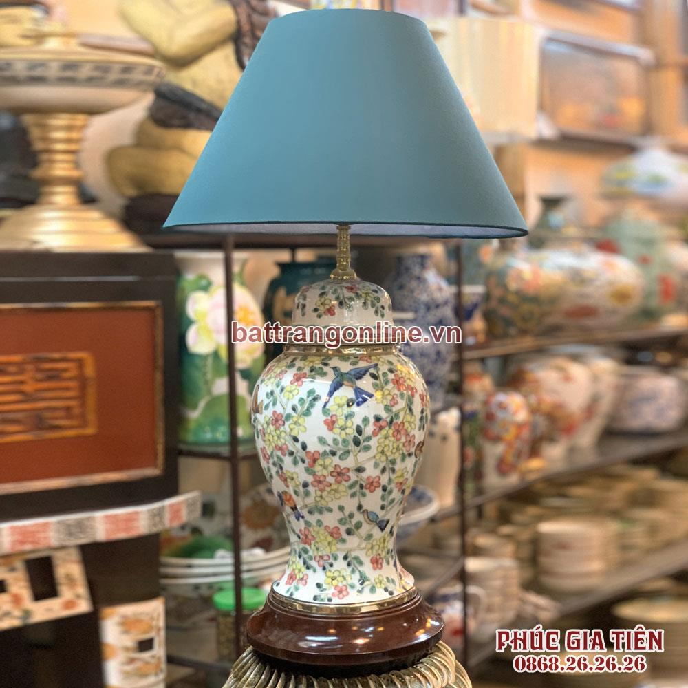 đèn ngủ hoa mùa xuân cao 60cm