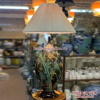 Đèn ngủ cây tre trăm đốt, cao 58cm