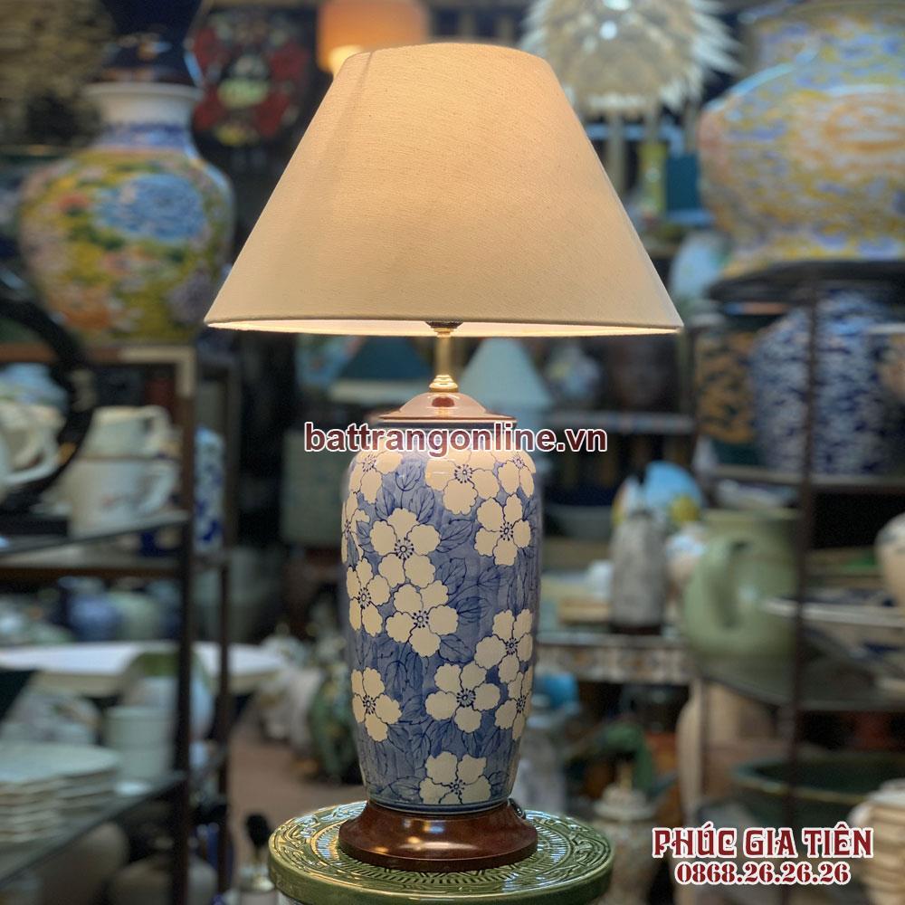 đèn ngủ lá xanh cao 55cm