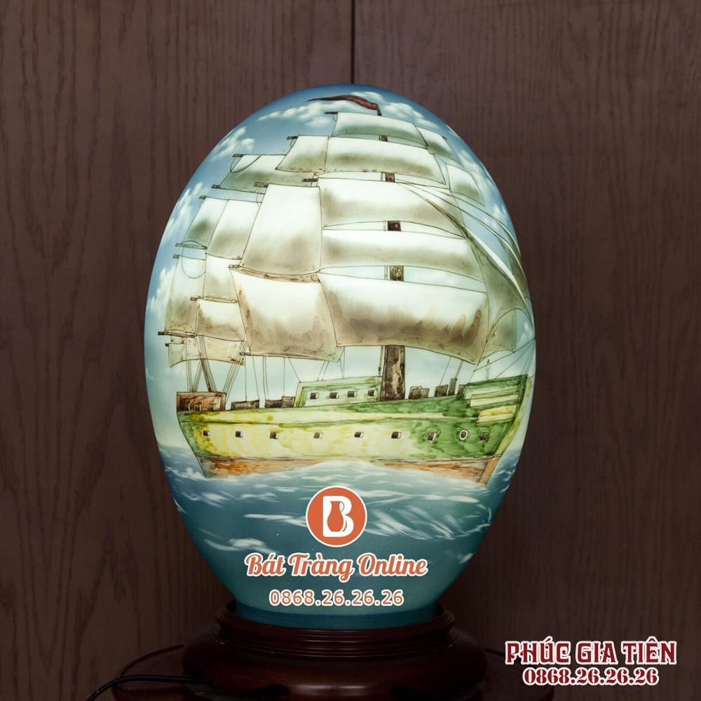 Đèn sứ thấu quang thuận buồm xuôi gió cao 40cm