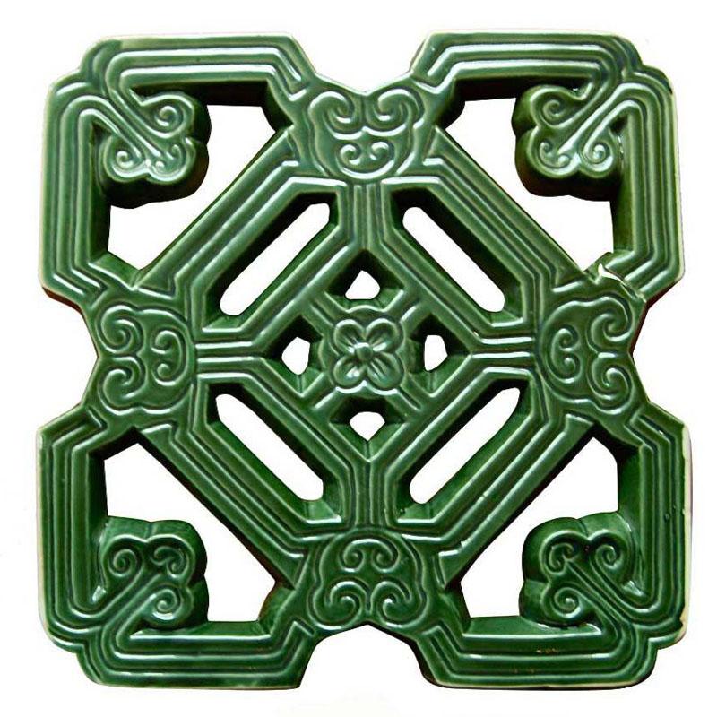 Gạch Hoa Cổ - Nâu đenXanh đồng - THC 307- 20
