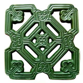 Gạch Hoa Cổ - Nâu đenXanh đồng - THC 307- 33