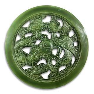 Gạch Tròn Rồng Phượng - Xanh đồng - THC 310