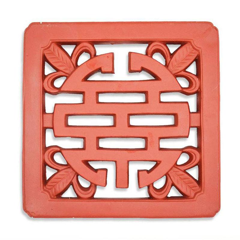 Gạch Chữ Thọ - Đỏ gốm - TYC 302- 30