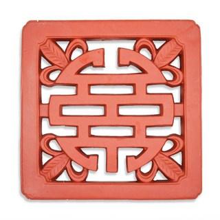 Gạch Chữ Thọ - Đỏ gốm - TYC 302- 50