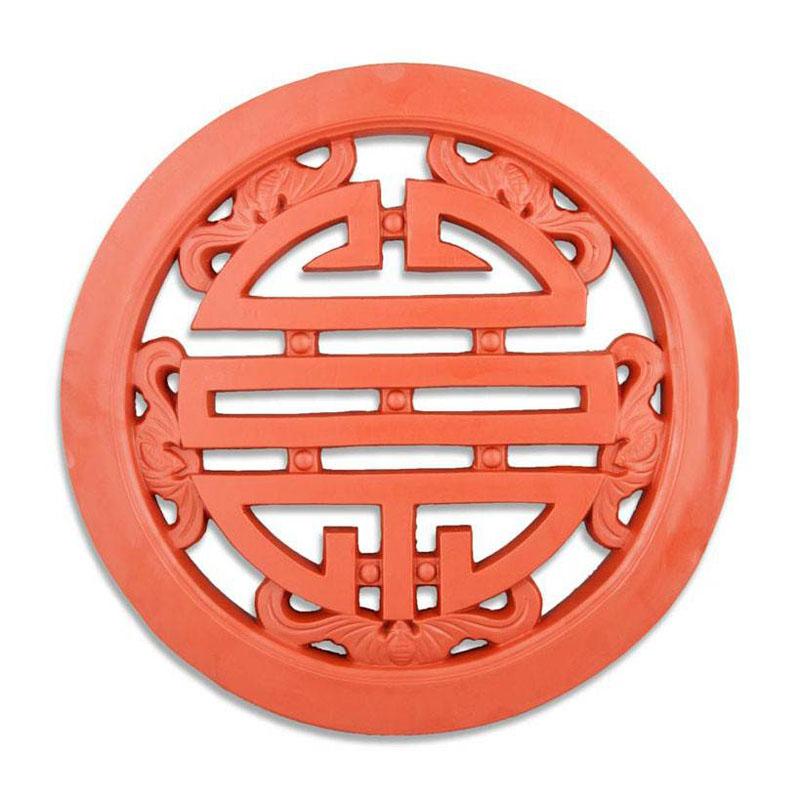 Gạch Tròn Chữ Thọ - Đỏ gốm - TYC 306- 40