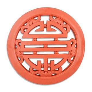 Gạch Tròn Chữ Thọ - Đỏ gốm - TYC 306- 50