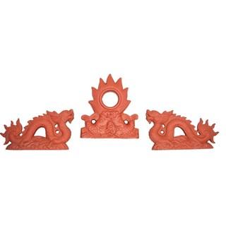 Rồng Gốm 0.3m - Đỏ gốm - TYC 604