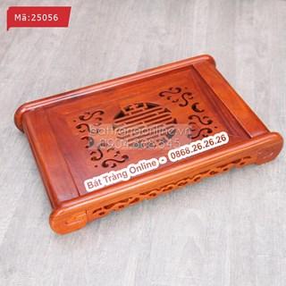 Khay đựng ấm chén gỗ hương - chử đồng tử 50x30cm
