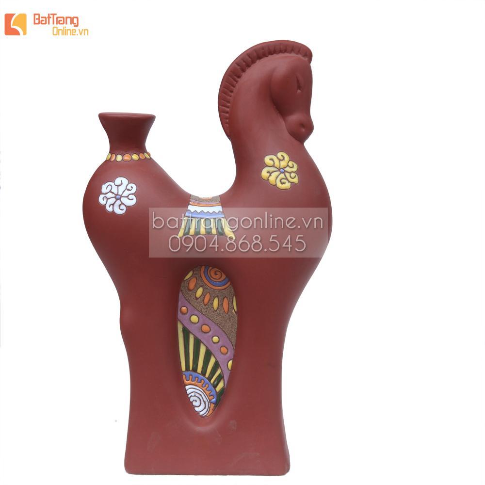 Gốm trang trí hình ngựa cổ