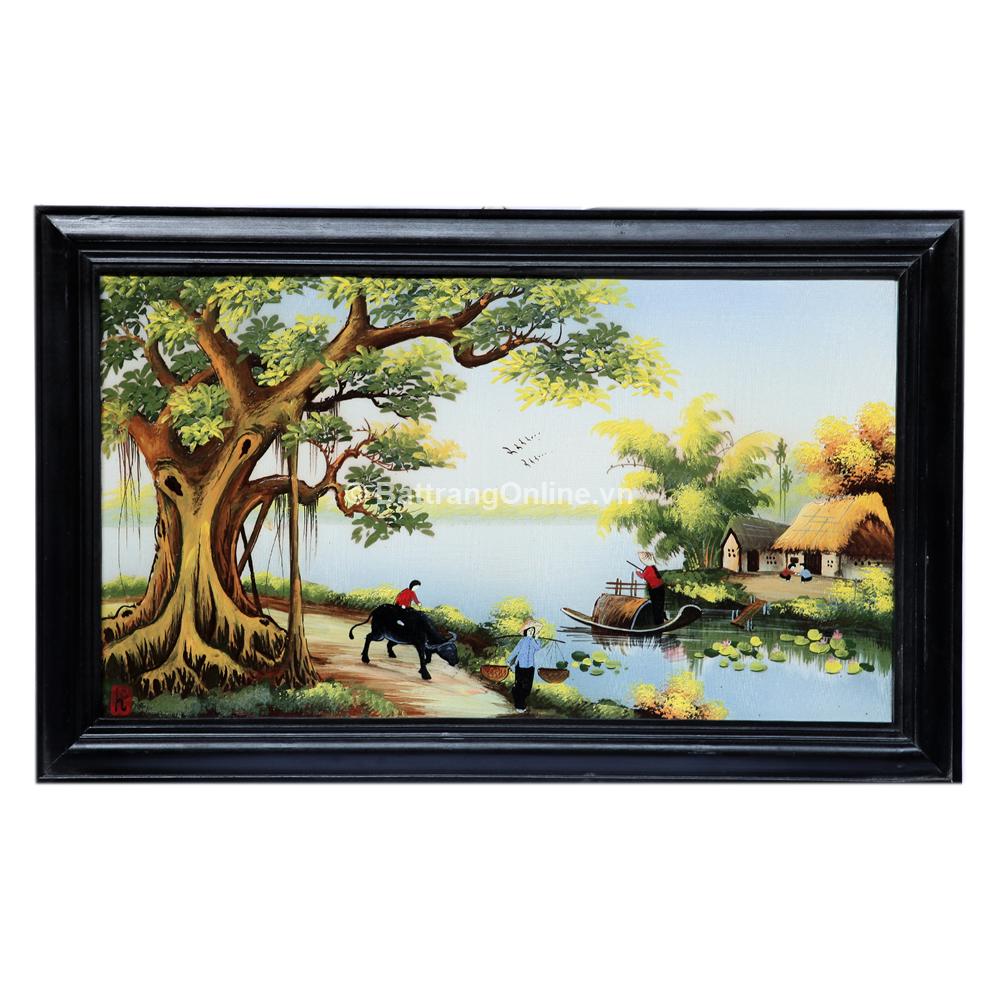 Tranh vẽ cảnh đồng quê 05 - cao 42cm, rộng 66cm