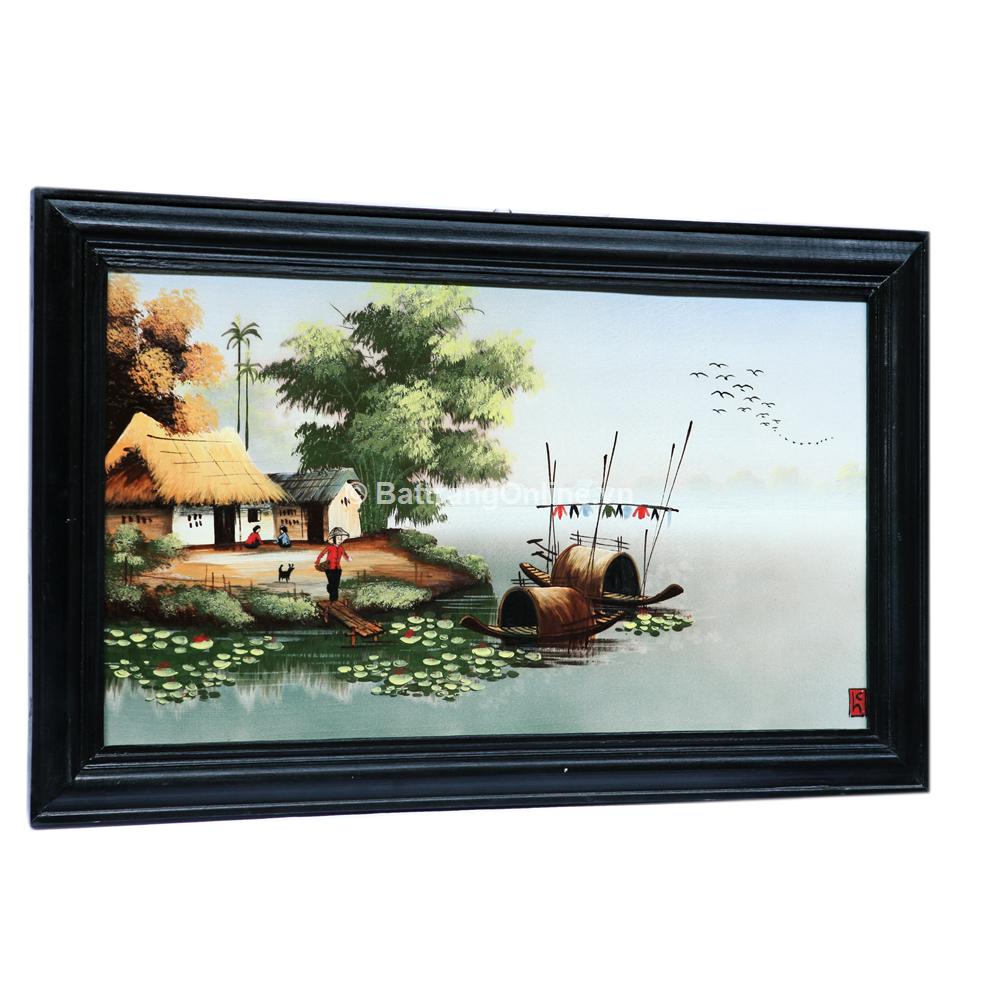 Tranh vẽ cảnh đồng quê 04 - cao 42cm, rộng 66cm