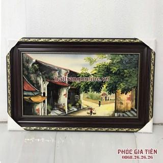 Tranh sứ vẽ phố cổ Hà Nội