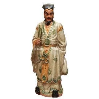 Tượng Khổng Minh - Men Rạn cao 90cm