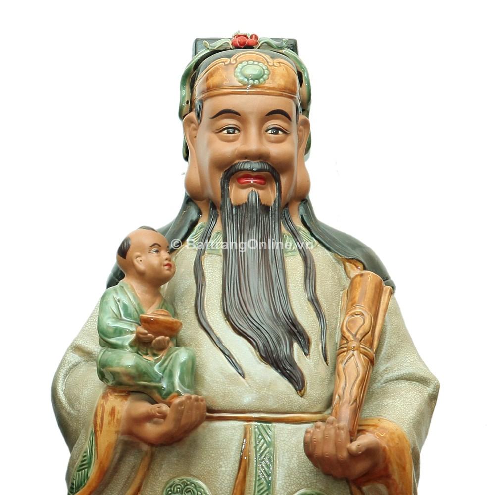 Tượng Tam Đa - Men rạn - Cao 100cm