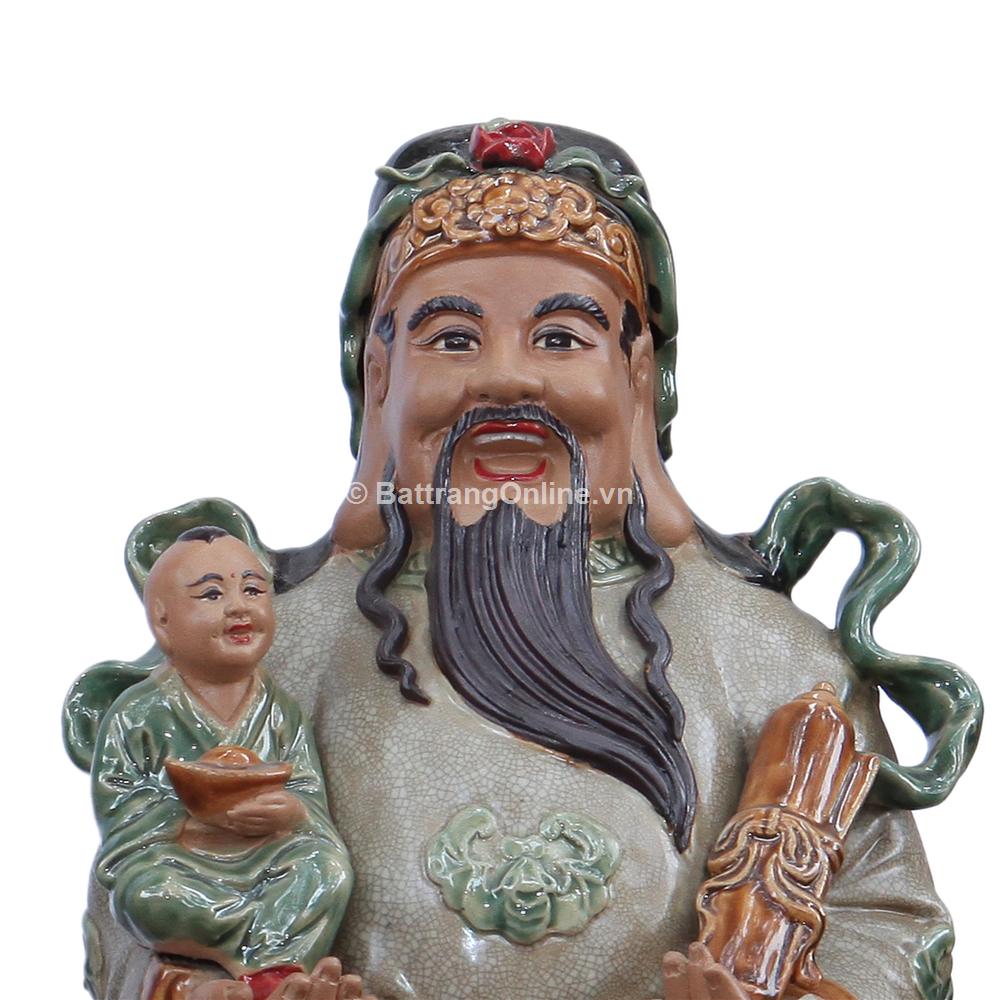 Tượng Tam Đa - Men rạn - cao 65cm