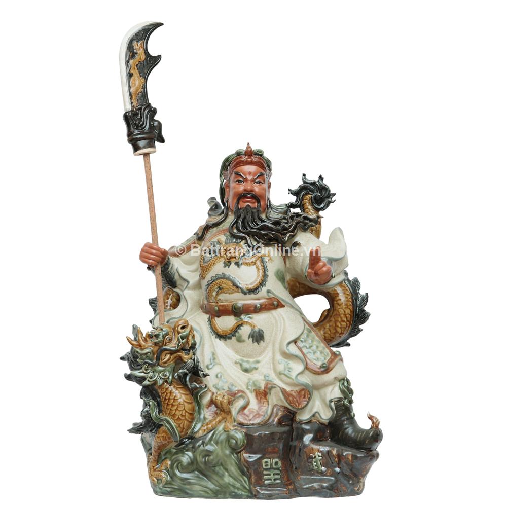 Quan Công Ngự Rồng - cao 45cm - Rộng 32cm