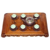 Bộ ấm pha trà Phúc Lộc Thọ - bọc đồng 0.4L và khay
