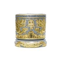 Bát hương rồng dát vàng đường kính 27cm