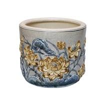 Bát hương Sen - men rạn cổ - đường kính 14 cm