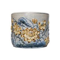 Bát hương Sen - men rạn cổ - đường kính 25 cm