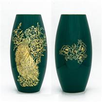 Bình vẽ vàng công phú quý, cao 30cm