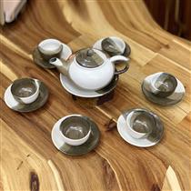 Bộ trà dáng độc ẩm men hỏa biến