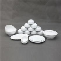 Bộ đồ ăn sứ trắng 19 món