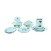 Bộ đồ ăn Bát Tràng 25 món - Hoa dây xanh