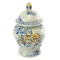 Chóe mini Rồng nổi số 5  - men rạn cổ - cao 16 cm