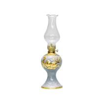 Đèn dầu thờ đắp nổi quả đào dát vàng - cao 27cm