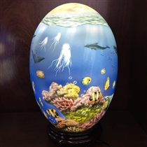 Đèn sứ Bato vẽ cảnh dưới đáy đại dương