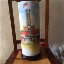 Đèn trang trí vẽ cột cờ Hà Nội - cao 40cm