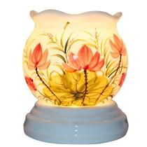 Đèn xông tinh dầu (vẽ sen , dáng đèn trứng)