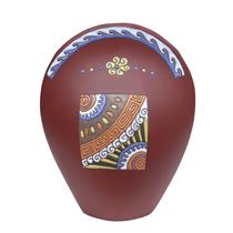 Bình gốm Bát Tràng dáng vòng cung