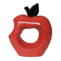 Bình trang trí táo đỏ đen
