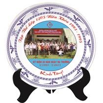 Đĩa Bát Tràng In Logo làm quà tặng 02- đường kính 20cm