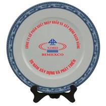 Đĩa Bát Tràng In Logo làm quà tặng - đường kính 20cm