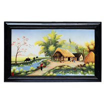 Tranh vẽ cảnh đồng quê 06 - cao 42cm, rộng 66cm
