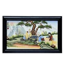 Tranh vẽ cảnh hai ông Tiên đánh cờ - cao 42cm, rộng 66cm