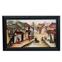 Tranh vẽ cảnh phố cổ - cao 42cm, rộng 66cm