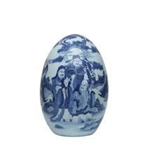 Quả trứng phong thủy - vẽ Phúc Lộc Thọ - Cao 45cm