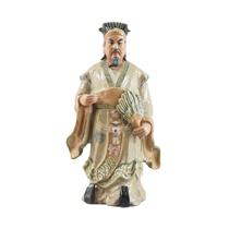Tượng Khổng Minh - men rạn - cao 90cm