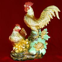 Tượng Kim Kê Báo Hiểu dát vàng