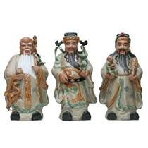 Tượng Phúc Lộc Thọ - Men Rạn - cao 45cm